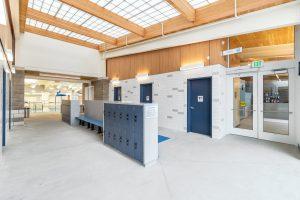 Shore Aquatic Center Family Locker Room Benches