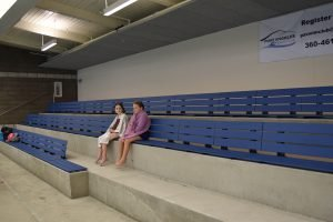 Shore Aquatic Center Bleacher Benches with Backrest
